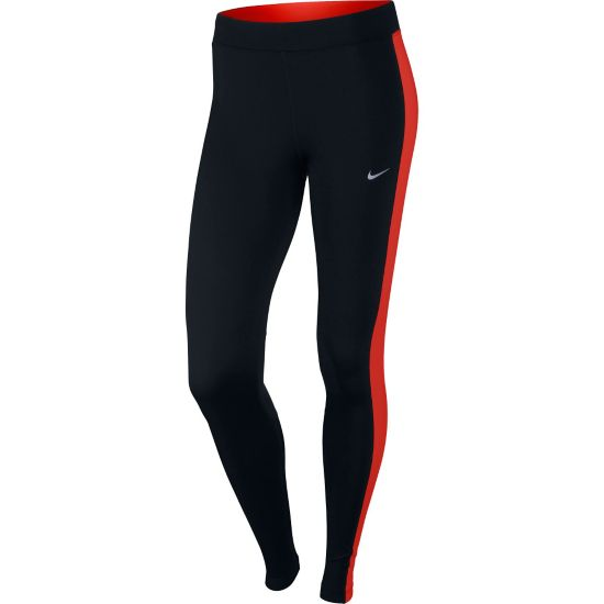 Power Essential Løpetights Dame BLACK/LT CRIMSO