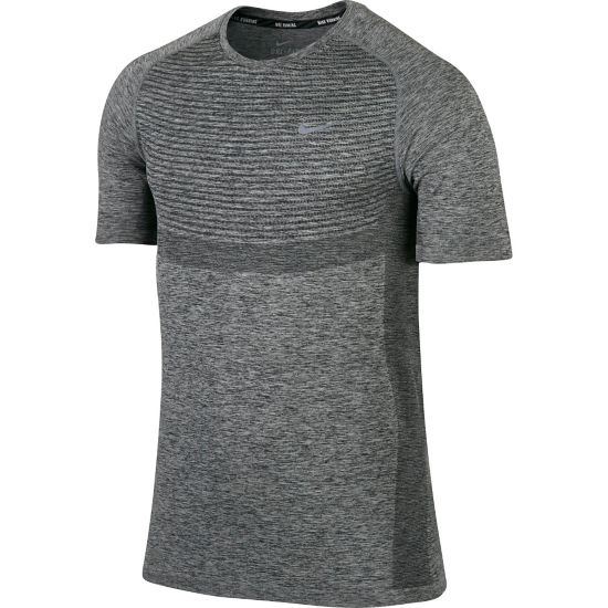 Dri-Fit Knit Running T-skjorte Herre BLACK/HTR/REFLE