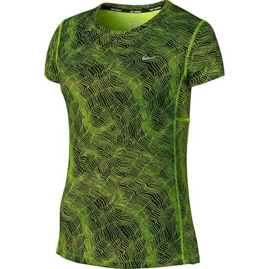 Dry Miller T-skjorte Dame BLACK/VOLT/REFL