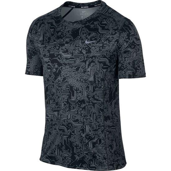 Dry Miler T-skjorte Herre BLACK/COOL GREY