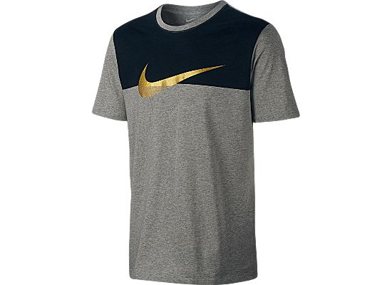 Advance 15 Swoosh T-skjorte Herre DK GREY HEATHER