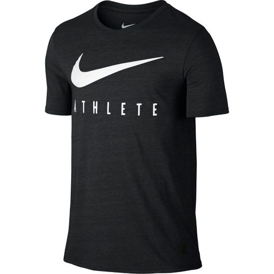 Mesh Swoosh Athlete T-skjorte Herre BLACK HEATHER/W