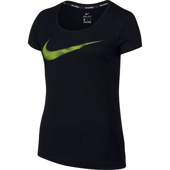 Dry Contour Running T-skjorte Dame BLACK/VOLT/REFL