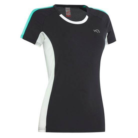 Kristin Trenings T-skjorte Dame BLACK
