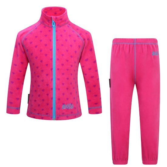 Fongen Fleece Sett Barn SHARP PINK PR