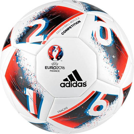 Euro16 Competion Fotball WHITE/BRBLUE/SO