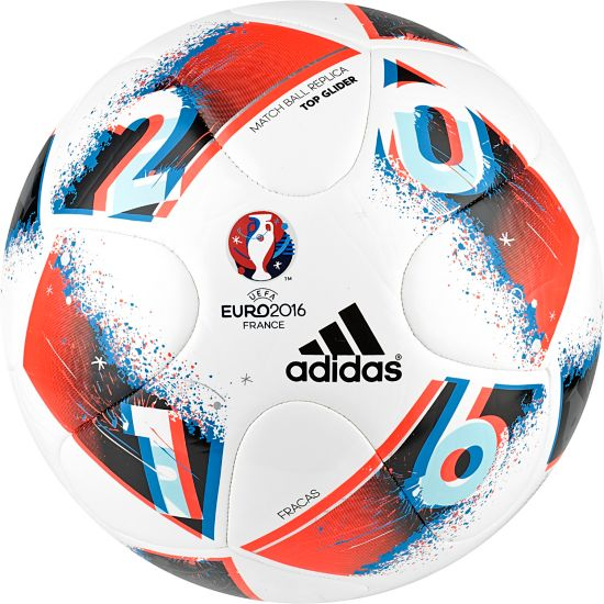 Euro16 Fracas Top Glider Fotball WHITE/BRBLUE/SO