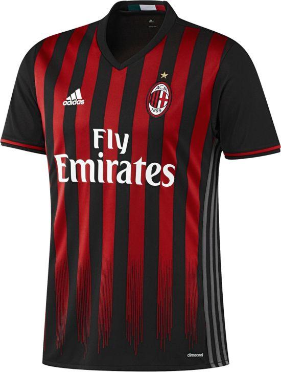 AC Milan Hjemmedrakt 16/17 BLACK/VICRED/GR