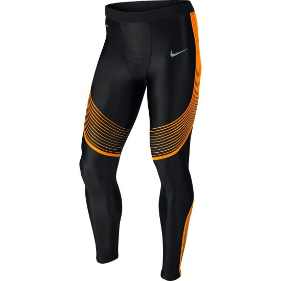 Power Speed Tight Herre BLACK/VIVID ORA
