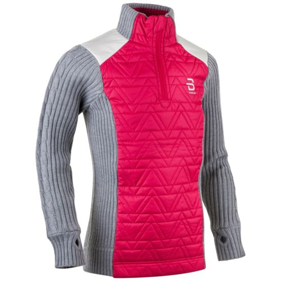 Half Zip Comfy Genser Junior BRIGHT ROSE