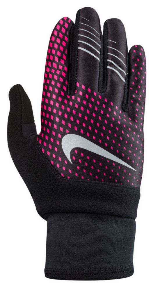 Women'S Printed Therma-Fit Elite Run Gloves HYPER PINK/BLAC