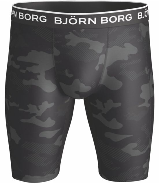 Performance long shorts camoprint BLACK