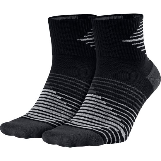 2pk Dri-Fit Lightweigt Løpesokk 010-BLACK/ANTHR