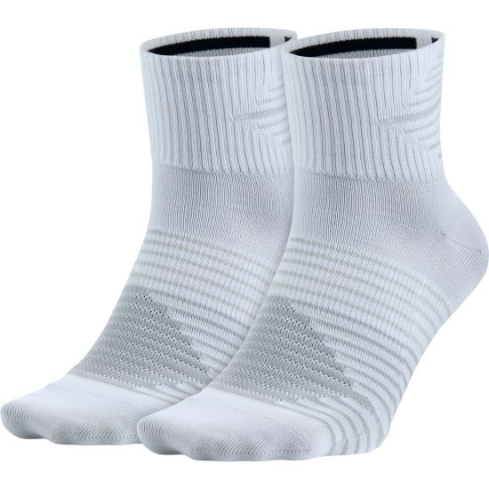 2pk Dri-Fit Lightweigt Løpesokk 100-WHITE/PURE