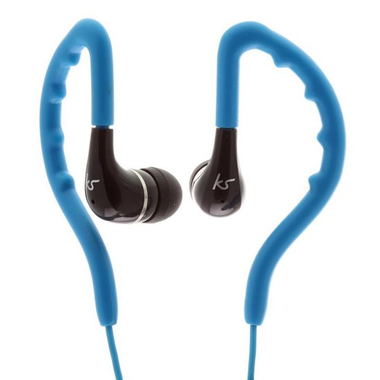 Earbud Enduro Blå In-Ear Vannavvisende, Øreklips