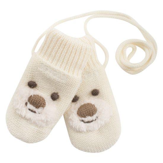 Bear baby mitten  OFFWHITE