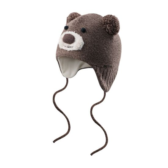 Bear baby beanie  BROWN