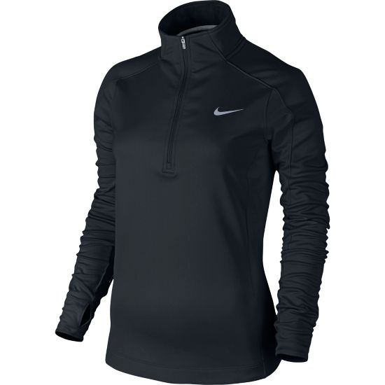 Dri-Fit Thermal Halfzip Overdel Dame BLACK/BLACK/REF
