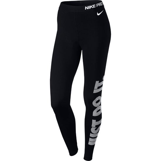 Pro Warm Logo Tights Dame BLACK/WHITE