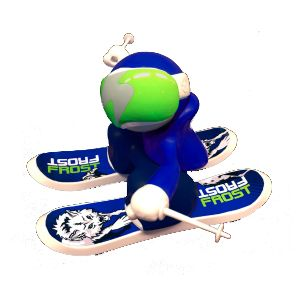 Chuckbuddies Frost Skier Lekefigur Blå