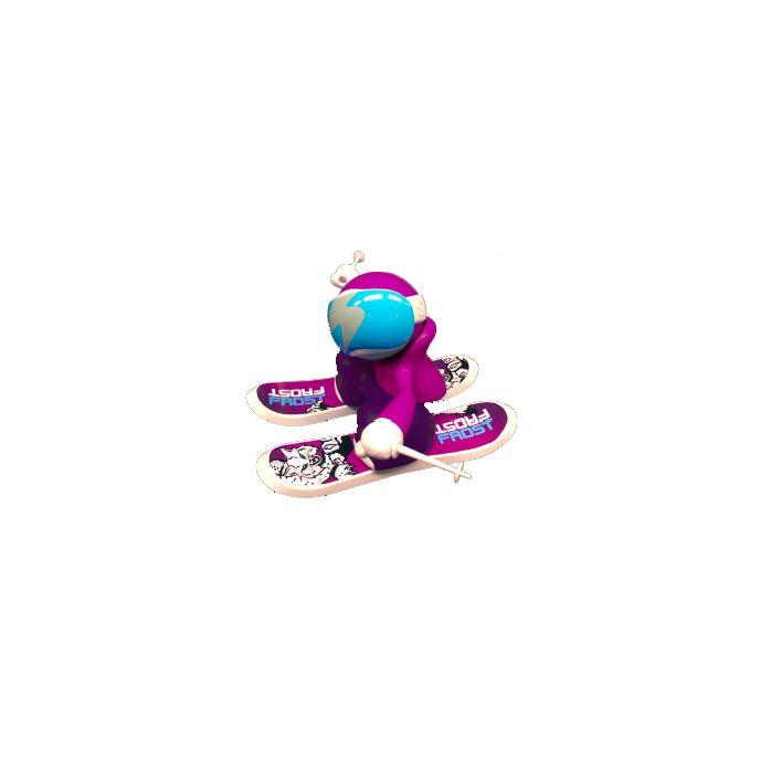 Chuckbuddies Frost Skier Lekefigur Rosa