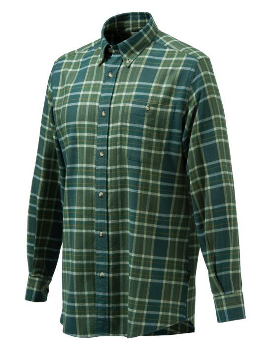 Sport Classic Button Skjorte GREEN MOSS CHEC