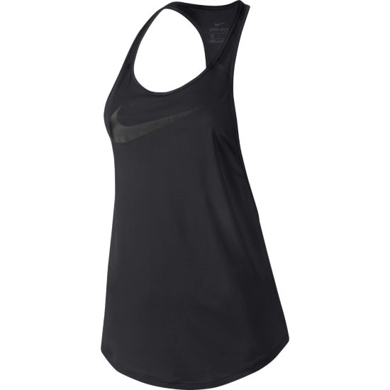 Flow Graphic Singlet Dame 011-BLACK/BLACK