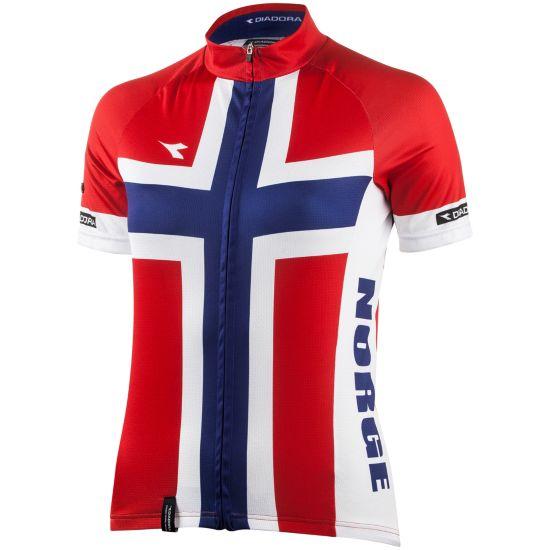 Flaggtrøye Replika Norge Jr RØD/ROYAL/HVIT