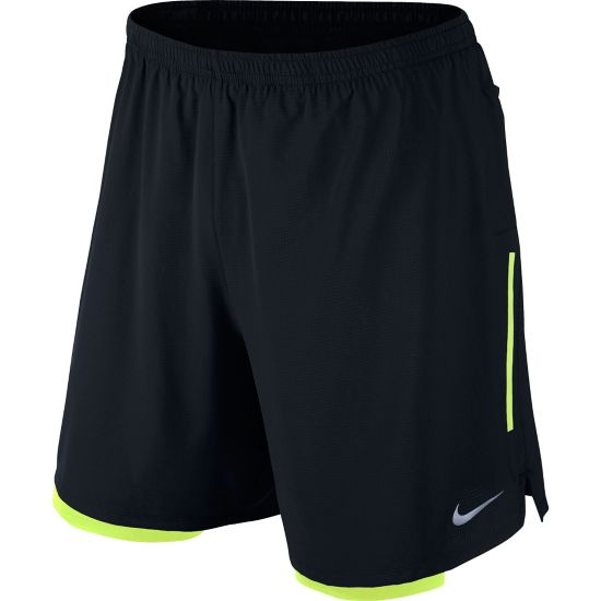 "7"" Phenom 2-IN-1 Løpeshorts Herre 010-BLACK/VOLT"