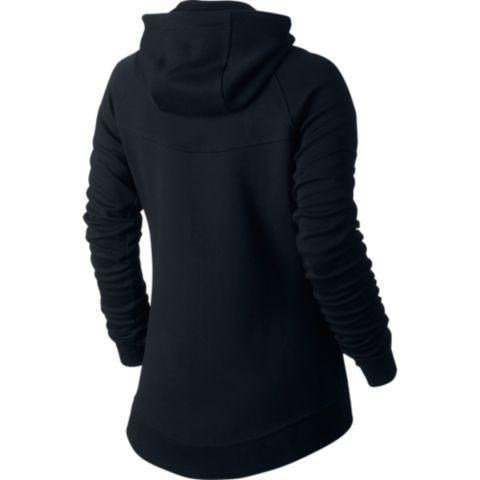 Tech Fleece hettejakke dame 010-BLACK/BLACK