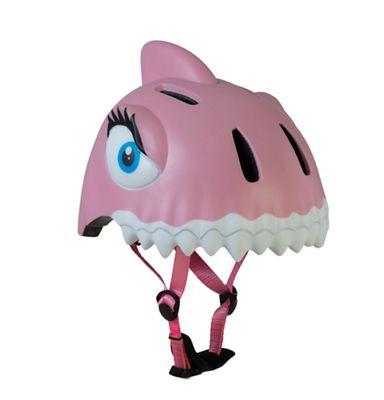 Pink Shark sykkelhjelm barn