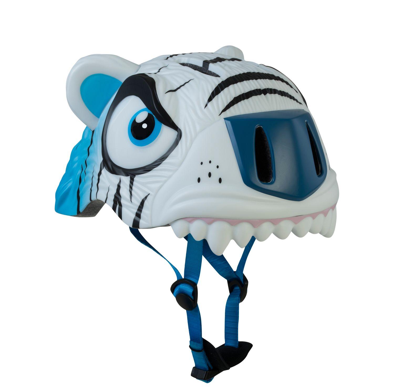 CRAZY SAFETY White Tiger sykkelhjelm barn