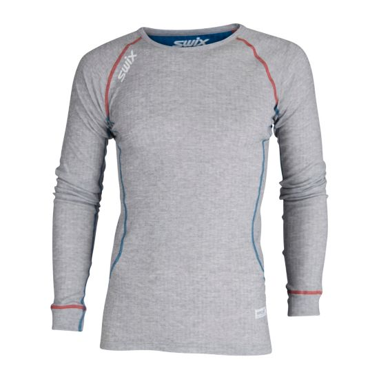 RaceX Bodywear Superundertøy Langermet Overdel Herre GREY MELANGE