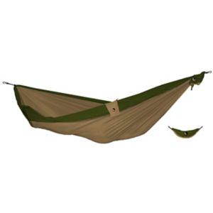 Dobbel hengekøye brun/grønn