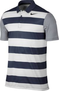 Breathe Bold Stripe Polo Herre