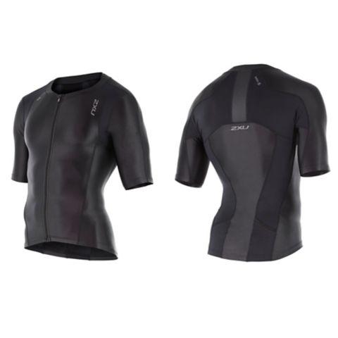 Compression Sleeved tritop herre BLACK/BLACK