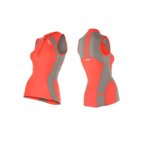 Compression trisinglet dame FIERY CORAL/FRO