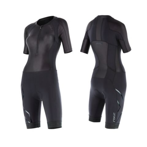 Compression Sleeved trisuit dame BLACK/BLACK
