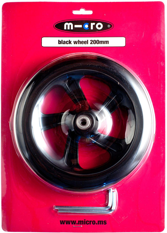 MICRO 200 mm Hjul til Black Sparkesykkel