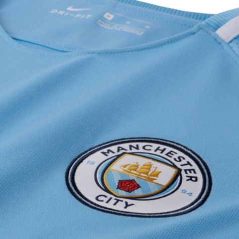 2017/18 Manchester City hjemmedrakt senior  489-FIELD BLUE/
