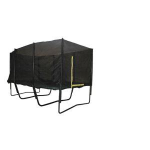 Rektangulær trampoline m/ sikkerhetsnett