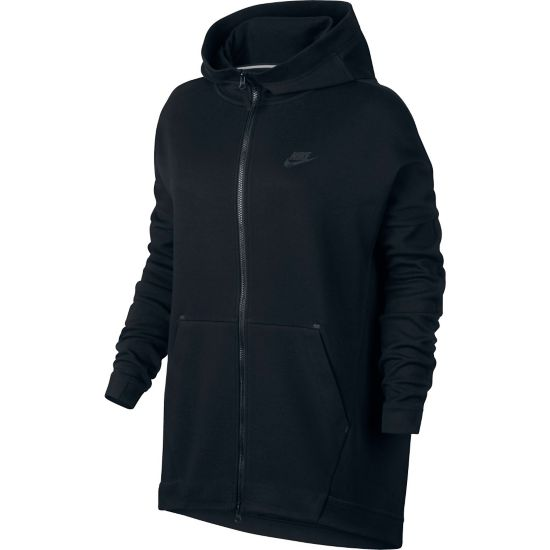 Tech Fleece Cape FZ Knit Dame 010-BLACK/BLACK