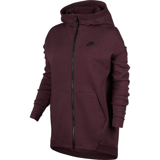 Tech Fleece Cape FZ Knit Dame 681-NIGHT MAROO