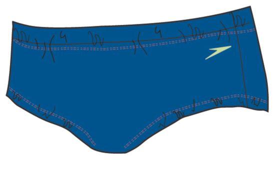 Speedo Aquanappy Badebleie BLUE/GREEN