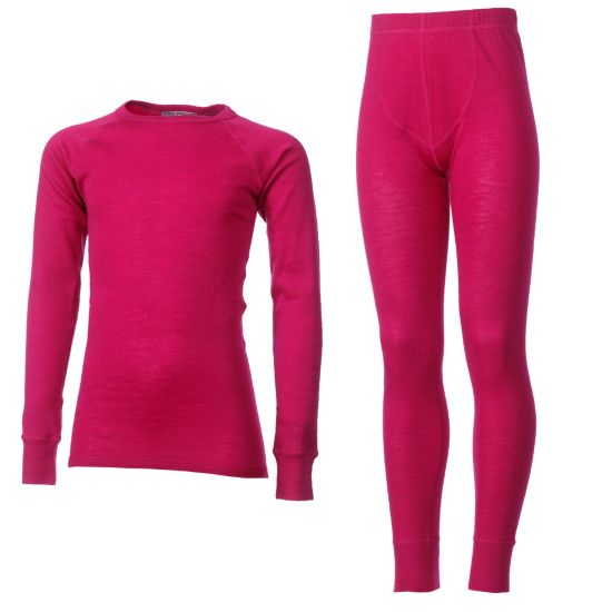 Merino Ullundertøysett Junior VIRTUAL PINK