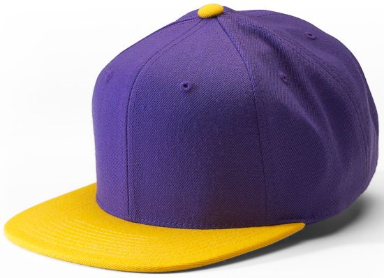 Two Tones Snapback Cap PURPLE/YELLOW