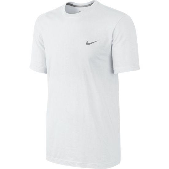 Tee-Embrd Swoosh T-Skjorte 100-WHITE/DK GR