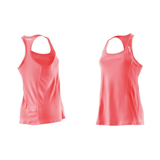 Ice Singlet Dame NEON CORAL/NEON