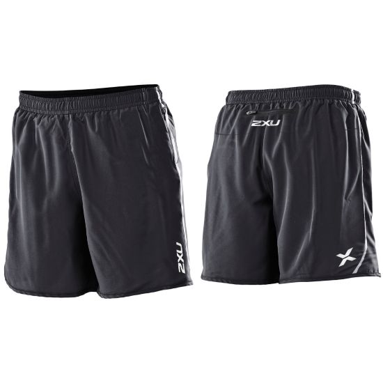 Run Short Medium Leg Herre BLACK/BLACK