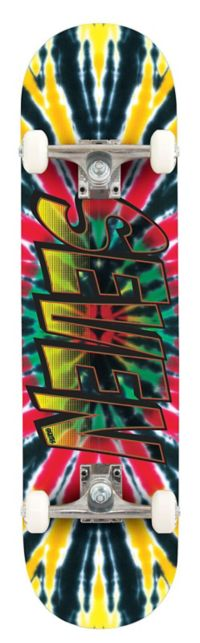 Rasta Tie Dye skateboard
